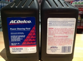 AC Delco power steering fluid