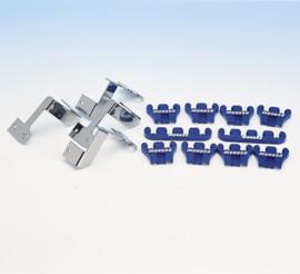 Bougiekabel geleiders blauw/chroom