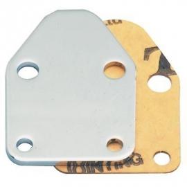 Benzinepomp block off plate