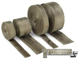 Exhaust and Header Wrap, Titanium, 1 in. Wide x 50 ft.
