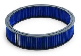 Edelbrock 14 X 3 inch blauw filter