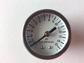 meter 0-15 psi benzine druk