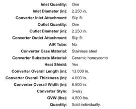 Catalisator universeel  2,25 inch magnaflow wide