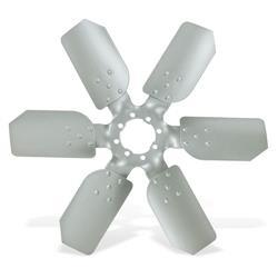 6 blads fan Universeel zilver