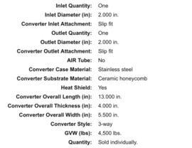 Catalisator universeel  2 inch magnaflow wide