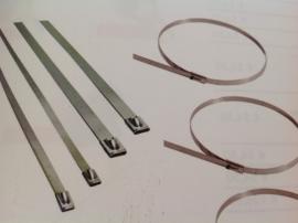 Rvs t-ribs 4,5mm  30 cm lang