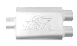 uitlaatdemper Thrush welded 3 > 2,5 inch dubbel