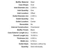 Flowmaster 40 series 2,25 inch 942441