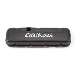 Chevrolet BB Klepdeksels zwart edelbrock
