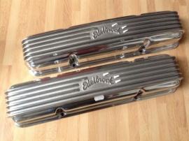 Chevrolet SB Aluminium klepdeksels edelbrock classic