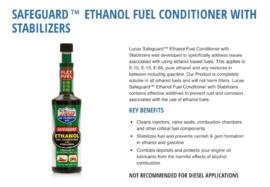 Lucas Ethanol fuel conditioner. 473ml verpakking
