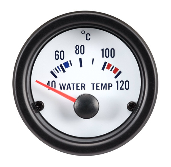 Performance Instrument Wit Watertemperatuur 40-120C 52mm