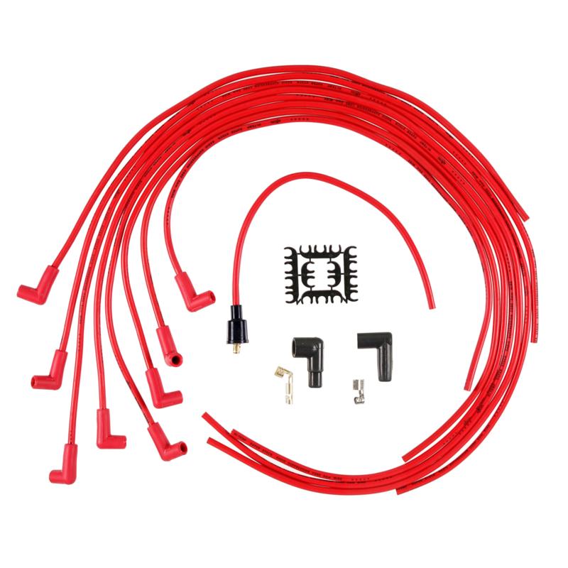 Accel rode kabel set universeel V8