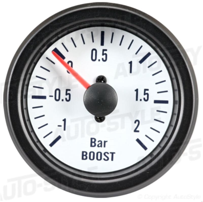 Performance Instrument Wit Turbodruk +2,0>1 bar 52mm