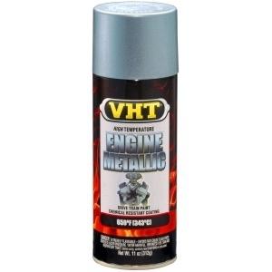 VHT engine metallic paint titanium zilver blue sp403