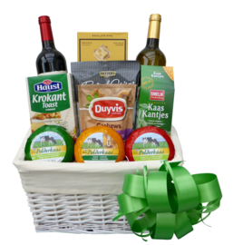 Wine & Three Cheese Basket
