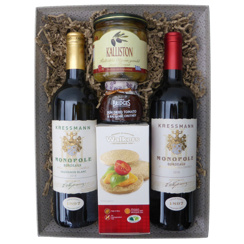 Wine & Olives Gift