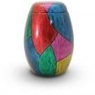 Glasfiberurn met kleurmotief GFU 210