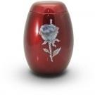 Glasfiberurn met roos