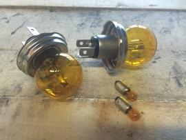 complete set gele lampen 6 volt