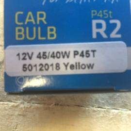 set gele lampen  P45t