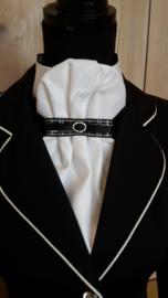 Plastron Elegance Strap geruit Zwart