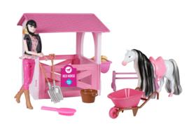 Speelgoedset  paardenstal