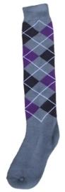 Excellent sokken Grijs/Zwart/Paars