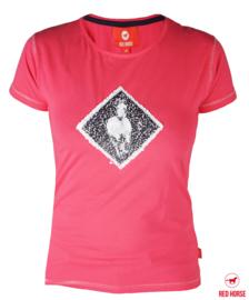 T-Shirt Caiber met Paardenprint