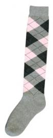 Excellent sokken Lgrijs/Dgrijs/Roze