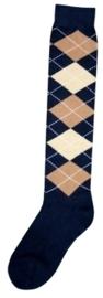 Excellent sokken Dblauw/Lbruin/Beige