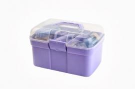 Poetskoffer met inhoud lavender
