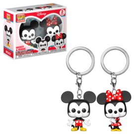FUNKO Pocket POP pack 2 keychain Disney Mickey & Minnie