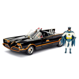 Batman DC Comics Classic TV Batmobile 1966 metal car & figure set