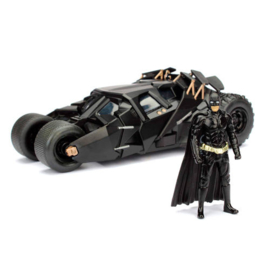Batman DC Comics The Dark Knight Batmobile 2008 metal car & figure set
