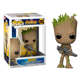 FUNKO POP figure Marvel Avengers Infinity War Teen Groot with Gun (293)