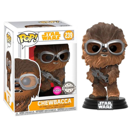 FUNKO Star Wars Solo Chewbacca with Goggles Flocked Exclusive Funko POP figure (239)