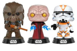FUNKO POP 3 pack figures Star Wars Tarfful, Unhooded Emperor & Utapau Clone 2017 Fall Convention Exclusive