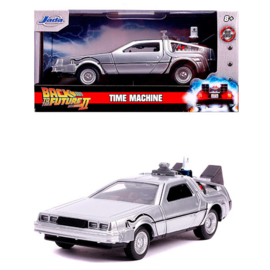 Back to The Future DLorean Time Machine metal car - Scale 1:32