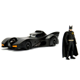 Batman DC Comics Batmobile 1989 metal car & figure set