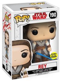 FUNKO POP figure Star Wars Rise of Skywalker Rey *Glows in the Dark* (190)