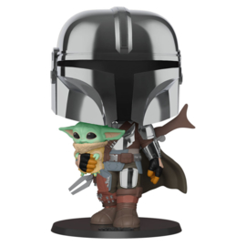 FUNKO POP figure Star Wars Mandalorian, Mandalorian with Yoda Child - 25cm