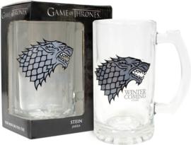 Game of Thrones Stark Winter is Coming glass mug/jug
