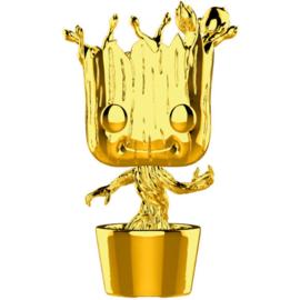 FUNKO POP figure Marvel Studios 10 Groot Gold Chrome (378)