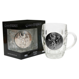 Game of Thrones Lannister glass mug/jug