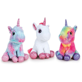 Unicorns assorted soft plush 17cm
