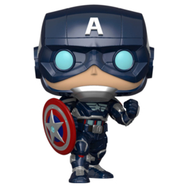 FUNKO POP figure Marvel Avengers Game Captain America Stark Tech Suit (627)