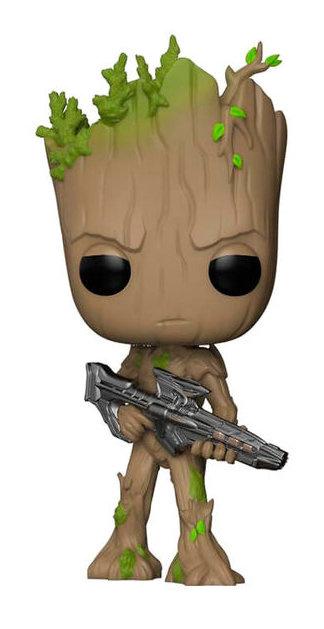 FUNKO POP figure Marvel Avengers Infinity War Teen Groot with Gun (293)