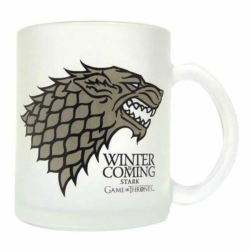 Game of Thrones Stark translucent glass mug