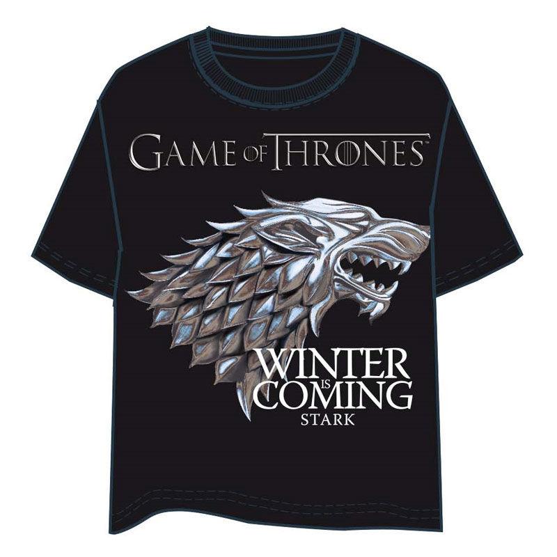 HBO Stark Game of Thrones Black adult tshirt